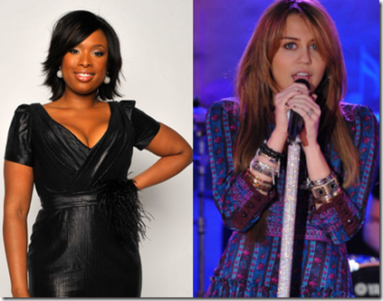 American Idol Results Show Jennifer Hudson and Miley Cyrus